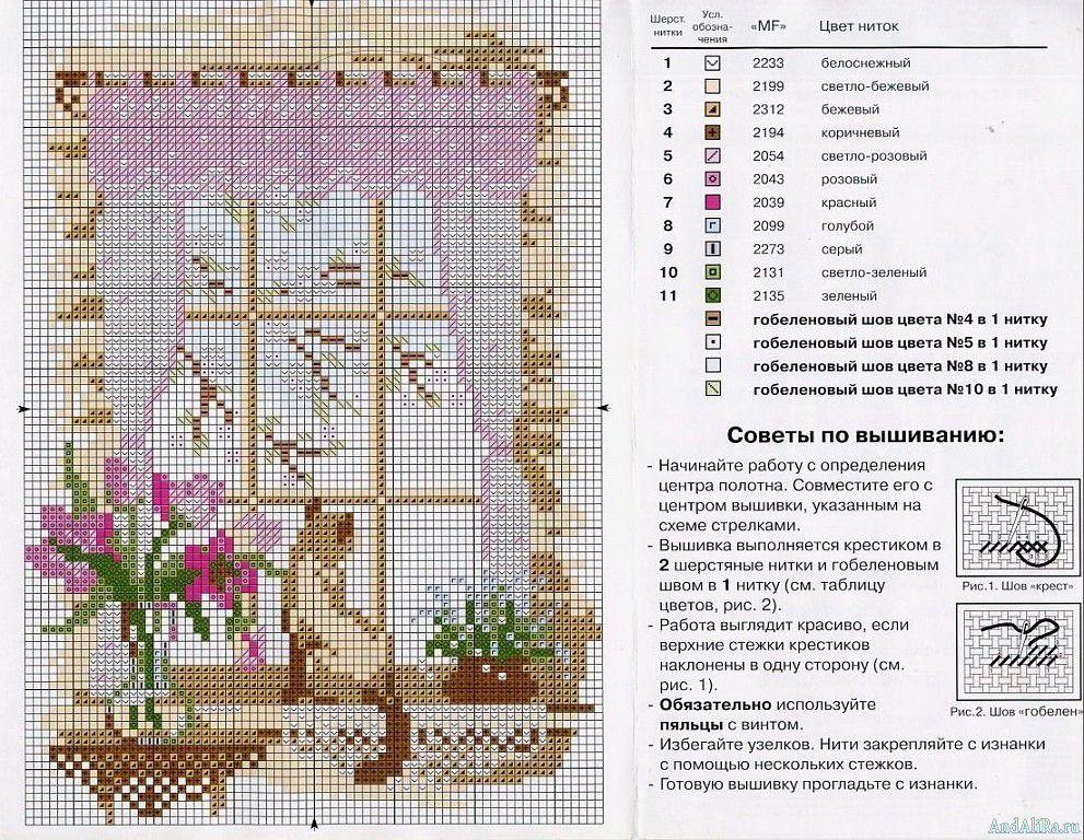 Как составить схему вышивания крестиком по